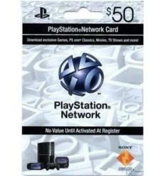 Cartão PSN $50 - Playstation Network EUA