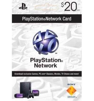 Cartão PSN $20 - Playstation Network EUA