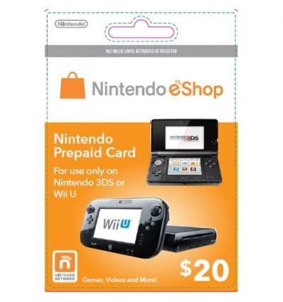 20 US Nintendo Points - Wii U 3DS