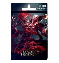 Cartão League of Legends 3100 Riot Points